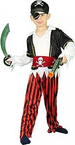 Foxxeo Piraten Kinderkostüm für Jungen Pirat Kostüm zu Fasching und Karneval Größe 86-92