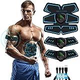 Moonssy Elettrostimolatore per Addominali, Elettrostimolatore Muscolare ABS, EMS Stimolatore Muscolare, USB Ricaricabile per