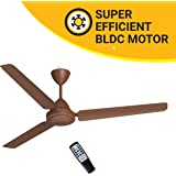 Atomberg Efficio 1400 mm BLDC Motor with Remote 3 Blade Ceiling Fan (Matt Brown, Pack of 1)