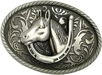 Magideal antique alliage de zinc WESTERN COWBOY RODEO CHEVAL Boucle de Ceinture pour hommes