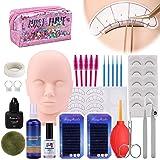 Wimperverlenging Training Mannequin Head Set, [Opgewaardeerd] MYSWEETY Makeup Practice Kit met Mannequin Cosmetology Artist D