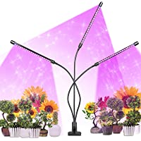 infinitoo Lampada per Piante, Upgrade Grow Light Full Spectrum Lampade LED per Piante con 60LEDs 3 Teste con 360 Gradi…