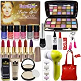 LAPERLA Exclusive Beauty Combo Makeup Set With Gold Facial Kit,Massager & Handbag