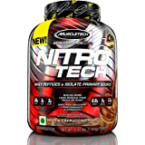 Muscletech Performance Series Nitrotech Whey Protein Peptides & Isolate (30g Protein, 3g Creatine, 6.8 BCAAs, 5g…