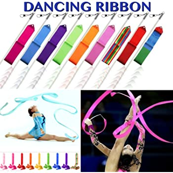 SystemsEleven® 4 m Gym Danse Ruban Art Gymnastique Rythmique Streamer  dansante Rod bâton 482f2020419