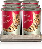 bewi cat Meatinis Wild [400 g] Dose   Nassfutter für Katzen   Muskelfleisch & Innereien mit fester Fleischstruktur  ...