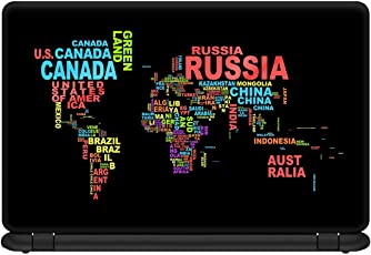 GMX Laptop Skin 15.6 inch World map Multicolor for HP, Dell, asus, Sony, Lenovo, Apple & Others