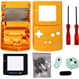 Timorn Sostituzione Case Cover Shell alloggiamento Pieno per GBC Gameboy Color (Giallo)