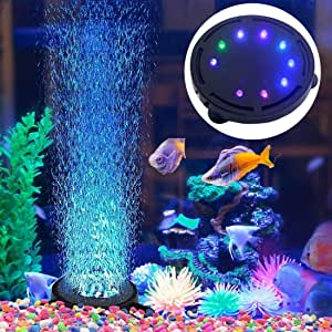 Zdjr Aquarium Air Stone Blase Licht Tauch Aquarium Air Bubbler Led Licht Luftpumpe Bubble Stone Lampe Für Turtle Aquarium Dekoration Küche Haushalt