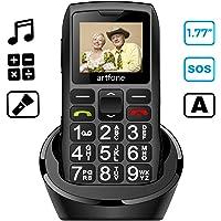 artfone Seniorenhandy ohne Vertrag | Dual SIM Handy mit Notruftaste | Rentner Handy große Tasten | 1400 mAh Akku Lange…