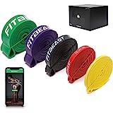 FitBeast Bande Elastici Fitness [5 Elastici trazioni] con Ancoraggio per Porta, Pad di Protezione per Le Mani, per Stretching
