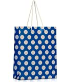 Colourtales Printed Gift Shopping Paper Bags- Dark Blue (Pack of 20)