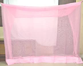 HDPE DELUXE Pink Mosquito Net for Babies, single and double bed 6x6.5 ft - Mosquito Protection Net for Baby