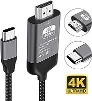 Kdely Cavo Type C HDMI 4K USB C HDMI Tipo C per MacBook Pro/Air, iMac, iPad Pro 2018, Surface Book 2/Go, Chromebook, Galaxy S