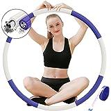 DUTISON Hula Hoop Gewogen Fitness - Verstelbare Gewatteerde Hoola Hoop voor Volwassenen Oefening Trainingen GYM Vrouwen Man 1