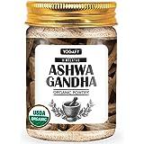 YOGAFY- Himalayan Organic Ashwagandha Herbal Powder for Boosting Immunity (200 Gram) - USDA Organic Certified - Withania Somn