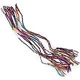 UEETEK 9pcs amistad trenzada moleteado coloridos hechos a mano pulseras hilo pulseras de tobillo muñeca (Color al azar)