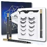 ONLYOILY 2020 Nuovo set di ciglia non magnetiche senza colla, ciglia 3D di terza generazione con eyeliner liquido impermeabil