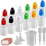 12 X 30ml cuentagotas del frasco de KAKOO plástico de la dosificación de tuna de la botella transparente y para llenar líquid