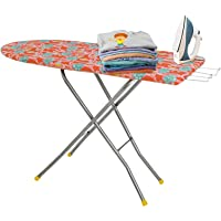 FLIPZON 18 Inch Ironing Board/Iron Table Stand with Press Holder, Foldable - (Color May Vary, Multi-Color) - (Make in…