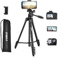 Trépied, VIWAA Trépied Portable Max 3 Kg, 139cm Aluminium de Trépied Smartphone en Tête Pivotante 360° , Ultraléger pour…