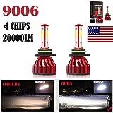 2Pcs 9006 LED Headlight Bulbs Conversion Kit HB4/9012 Car Headlamp 20000LM 6000K Cool White Hi/Lo Beam DRL Fog Light Replacem