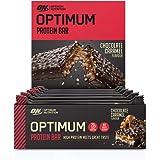 Optimum Nutrition ON Protein Bar Barritas Proteínas con Whey Protein Isolate, Dulces Altas en Proteína y Low Carb, Chocolate