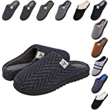 incarpo Pantofole Uomo Memory Foam Ciabatte Inverno Peluche Vello di Corallo Antiscivolo Caldo da Casa Interno Esterno Pantof