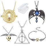 PPX 5 Pezzi Collana Set Time Turner Doni della Morte Boccino d'oro Collana e bracciali e Collana Magica con Una Corona di cor