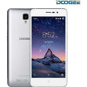 """Móviles y Smartphones Libres, DOOGEE X10 Teléfono Móvil Libre y sin Bloqueo de SIM Baratos - 5"""" Pantalla HD - Procesador DualCore MT6570 - 8GB ROM - 2.0MP+5.0MPX - Dual SIM 3G, 3360mAh - Plata"""