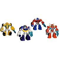 Playskool Heroes Rescue Bot Set of 4 Small Action Figures Optimus Bumblebee Chase Heatwave