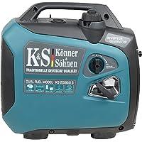 Könner & Söhnen KS 2000iG S LPG/Benzin-Inverter-Generator Gas stromerzeuger 2000 W, 1x16 A (230 V), 2 USB-Anschlüsse…