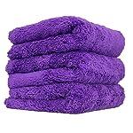 Chemical Guys Happy Ending Edgeless Microfiber Towel 3 Pack Purple MIC35803