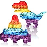 Soatasoa Fidget Toy Set für 2 Stück Regenbogen Pop Bubble Anti Stress Spielzeug Sensorisches Popet Spielzeug für…