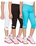 OCEAN RACE Girls' Regular Fit Capri (Pack of 3)