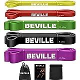 BEVILLE Fitnessbanden resistance band natuurlatex weerstandsbanden gymnastiekband voor krachttraining & pull-up en spieropbou
