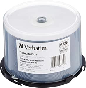 Verbatim Dvd R 16x Wide Printable Waterproof 4 7gb I Computer Zubehör