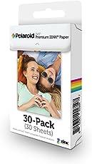 Polaroid 2x3 pollici Premium ZINK Carta fotografica (30 fogli) - Compatibile con Polaroid Snap, Snap Touch Z2300, SocialMatic Instant Camera e Zip Instant Printer.