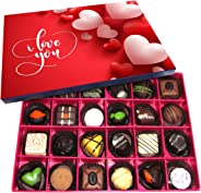 Chocholik Valentines Day Gift Box - Lets Stay Together and Never Part Belgium Chocolate Box - 24pc