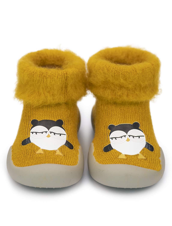 Adorel Zapatos Antideslizantes Calcetines Invierno para Bebé 2
