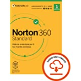 Norton 360 Standard 2021, Antivirus per 1 Dispositivo Licenza di 1 anno Secure VPN e Password Manager PC, Mac, tablet e…
