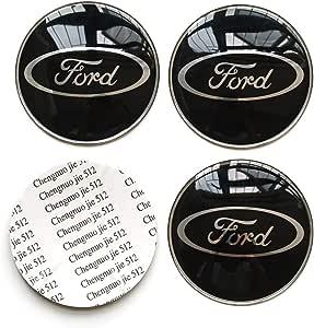 Monboauto 4 Stück Auto Auto Aufkleber Felgenmitte Nabendeckel Logo Aluminium Fit Für Ford Auto