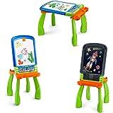 VTech DigiART - Caballete PequeARTista 3 en 1, pizarra electrónica interactiva que se transforma en tres juguetes, caballete