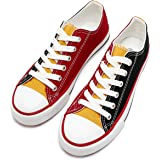 FRACORA Womens Canvas Shoes Color Patchwork Shoes Fashion Sneakers for Women