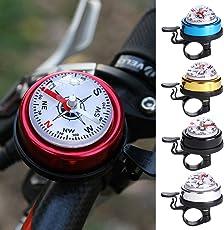 SueSupply Fahrradklingel Fahrradglocke mit Kompass Kinder Scooter Fahrradklingel Mini Glocke Bike Bell Ring Verschiedene Farbe optional