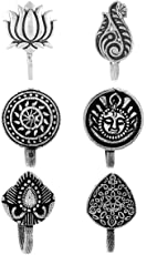 Anuradha Art Silver Oxide Finish Classy Wonderful Combo Set Press On Nose Ring/ Pin For Women/Girls