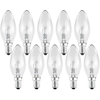 10 20 50 100 Stück Halogen Glühbirne 28W = 40W E14 230V Klarglas Leuchtmittel