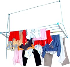 Skylift Ceiling Mounted Cloth Drying Laundry Hanger Stand Rack With Pulley For Pull And Dry Easy Dry Systems 6 Feet X 2 Feet