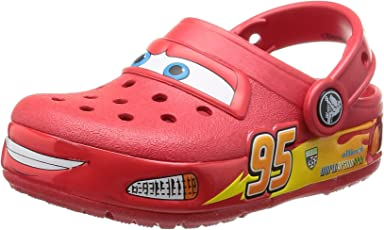 Crocs Boy's Lights Cars Rubber Clogs and Mules