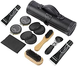 CONNECTWIDE Men's Shoes Cleaner Kit - Set of 11 Pieces